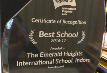 AFS Award Emerald Heights School 2017