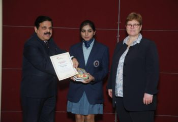 GUNJAN DODWANI WINNER PAINTING COMPETITION INDO GERMAN COOPERATION EMERALD HEIGHTS SCHOOL 1